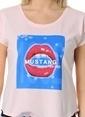Mustang Baskılı Tişört  Pembe